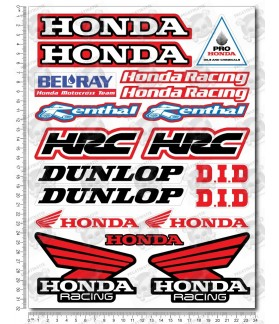 Honda Racing motocross Sponsors HRC Large Decal set 24x32 cm Laminated