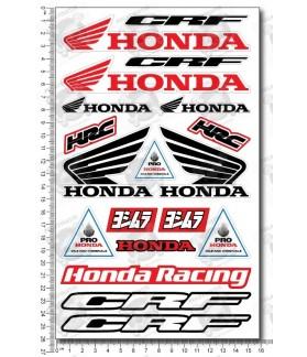Honda CRF motocross medium Decal set 16x26 cm Laminated CR sponsors