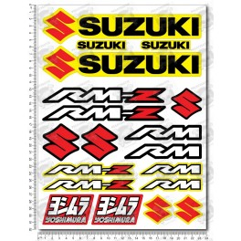 Suzuki RM RM-Z Large Decal set 24x32 cm Laminated