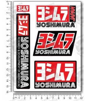 Yoshimura small Decal set 12x16 cm Laminated