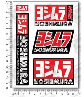 Yoshimura small Decal set 12x16 cm Laminated