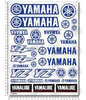 YAMAHA YZ YZF Large Decal set 24x32 cm Laminated motocross