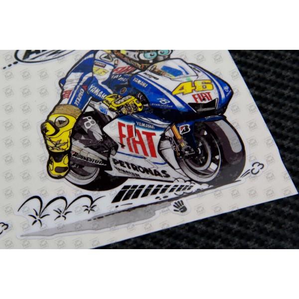 Valentino Rossi 46 The Doctor Kool Art Decals Stickers 2 Pcs 9 Cm Pegatinatix