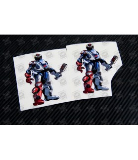 Jorge Lorenzo 99 robot Kool art decals stickers 2 pcs