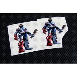 Jorge Lorenzo 99 robot Kool art decals stickers 2 pcs