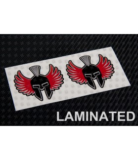 Jorge Lorenzo black spartan decals stickers 2 pcs 6 cm