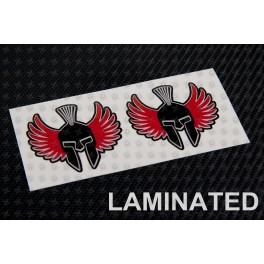 Jorge Lorenzo black spartan decals stickers 2 pcs 6 cm