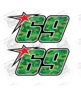 Nicky Hayden 69 badge decals stickers 2 pcs 10 cm