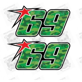 Nicky Hayden 69 badge decals stickers 2 pcs 10 cm