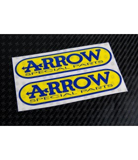 ARROW Special parts exhaust decals stickers 2 pcs 12 cm