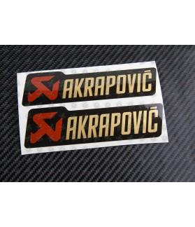 AUFKLEBER AKRAPOVIC metallic exhaust 2 pcs HEAT PROOF!