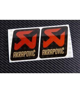 AKRAPOVIC metallic exhaust decals stickers 2 pcs HEAT PROOF!
