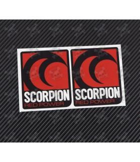 SCORPION exhaust decals stickers 2 pcs HEAT PROOF!