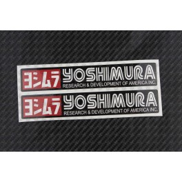 YOSHIMURA exhaust decals stickers 2 pcs HEAT PROOF!