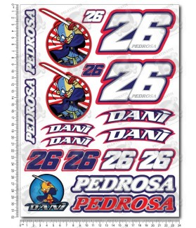 Dani Pedrosa Large Decal sticker set 24x32 cm Laminated