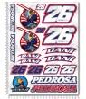 Dani Pedrosa Large Decal sticker set 24x32 cm Laminated