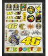 Valentino Rossi 46 The Doctor Large Decal set 24x32 cm Laminated