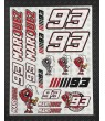 Marc Marquez 93 Large Decal sticker set 24x32 cm Laminated