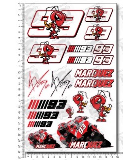 Marc Marquez 93 Large Decal sticker set 16x26 cm Laminated