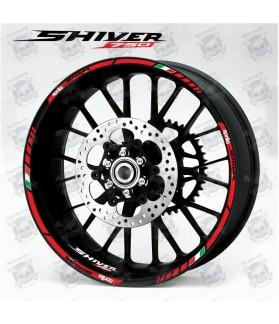 Aprilia Shiver 750 3 Way Wheel decals rim stripes 12 pcs. Laminated full color