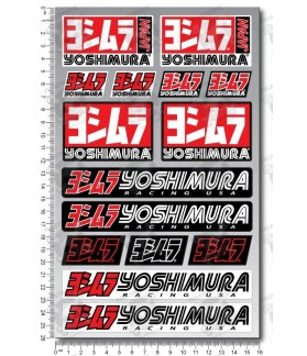 YOSHIMURA medium decals stickers graphics set 16x26cm Suzuki Honda Laminated