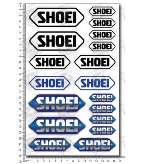 SHOEI helmet medium Decal sticker set 16x26 cm Laminated Sponsor