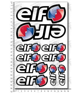 Elf Oils medium Decal sticker set 16x26 cm Laminated Sponsor