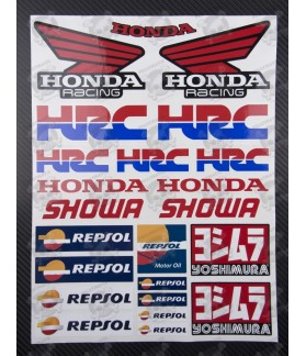 HONDA logo HRC Repsol Large Decal set 24x32 cm 23 stickers Yoshimura Laminated