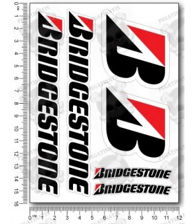 Bridgestone Small Decal sticker set 12x16 cm Laminated