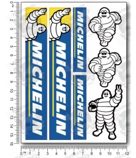 Michelin tyres small Decal set 12x16 cm Laminated