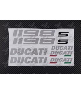 DUCATI 1198s OEM Decal sticker set 1198 Aluminum