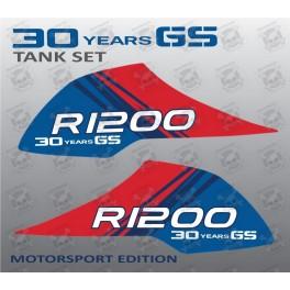 BMW R1200GS Adventure Fuel Tank Decal sticker set 30 Years GS 2006-2013  R1200