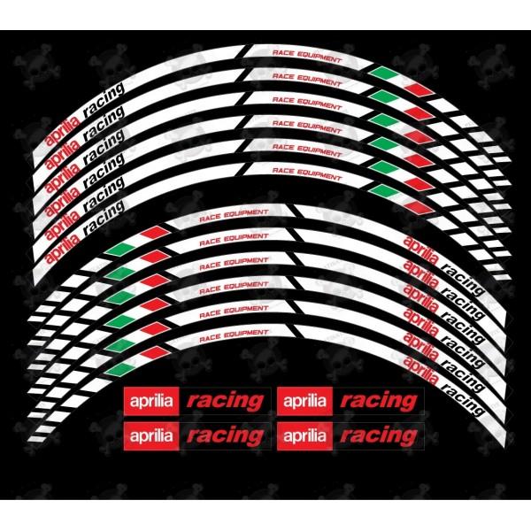 Aprilia Racing Wheel Decals Rim Stripes Stickers Laminated