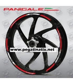 Ducati Panigale S R wheel decals stickers rim stripes 899 1199 1299 Laminated