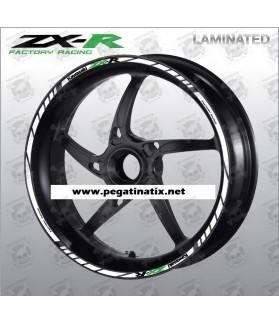 Kawasaki ZX-R wheel stickers decals rim stripes 16 pcs. Laminated ZX-10R ZX-6R ZX-9R