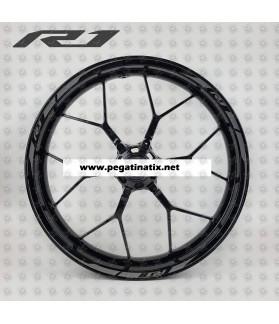 Yamaha YZF-R1 OEM style wheel stickers decals rim stripes Laminated grey