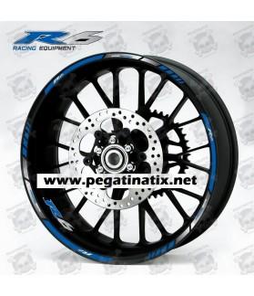 Yamaha YZF-R6 wheel stickers decals rim stripes Laminated yzf r6 blue