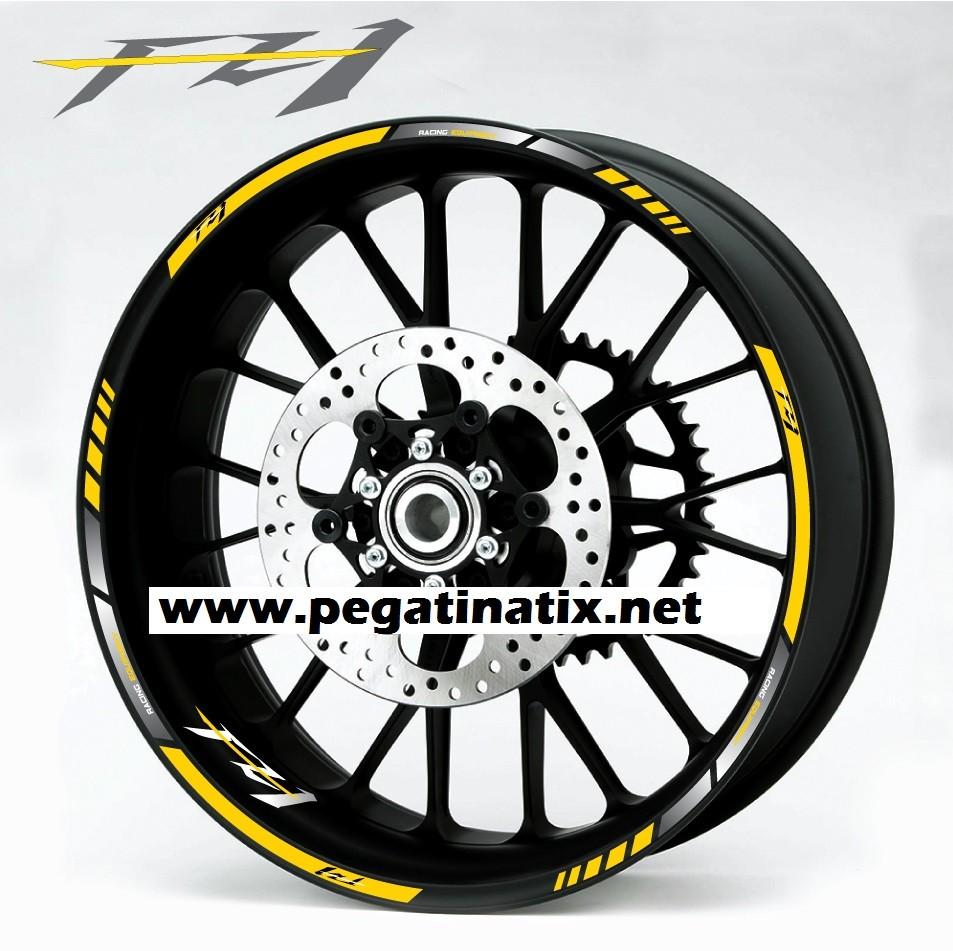 Yamaha fz 1 fazer wheel stickers decals rim stripes laminated fz1 yellow