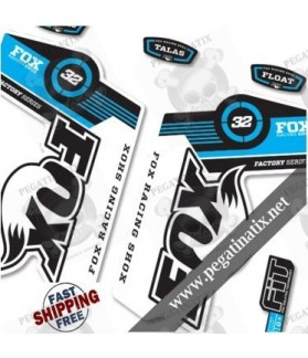 DECALS STICKERS FOX 32 DECALS KIT BLACK FORKS