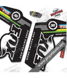 DECALS STICKERS FOX 32 WORLD CUP STICKERS KIT BLACK FORKS