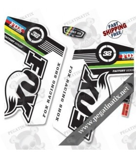 DECALS STICKERS FOX 32 WORLD CUP STICKERS KIT WHITE FORKS