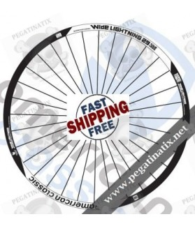 WHEEL RIMS AMERICAN CLASSIC WIDE LIGHTNING 29ER DECALS KIT