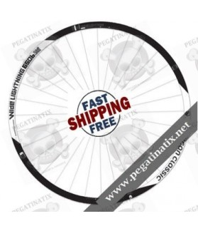 WHEEL RIMS AMERICAN CLASSIC WIDE LIGHTNING STICKERS KITAMERICAN CLASSIC WIDE LIGHTNING STICKERS KIT