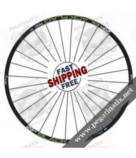 STICKERS WHEEL RIMS SRAM SUN RINGLÉ BLACK FLAG STICKERS KIT