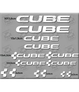 Sticker decal bike set CUBE