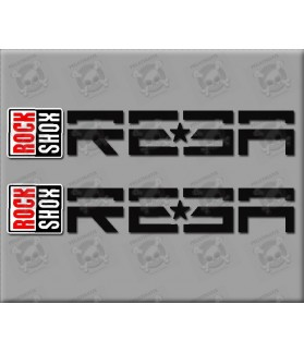 Sticker decal bike ROCK SHOX REBA 18 x 3,1 cm.