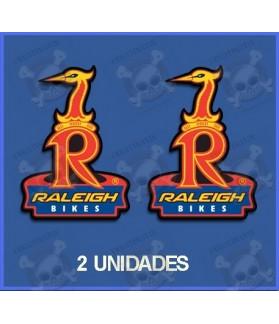 Sticker decal bike Raleigh x 2
