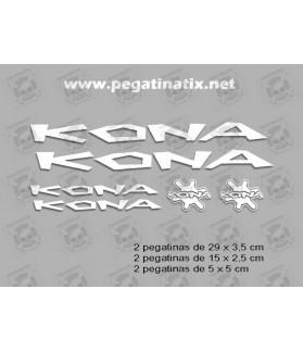 Sticker decal bike KONA SET