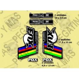 Sticker decal FORK FOX WORLD CHAMPION