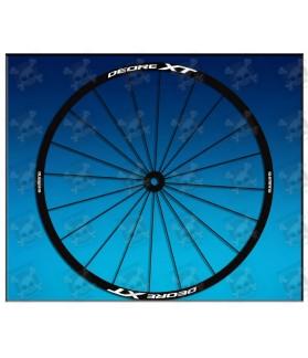 Sticker decal bike wheel rims SHIMANO DEORE XT